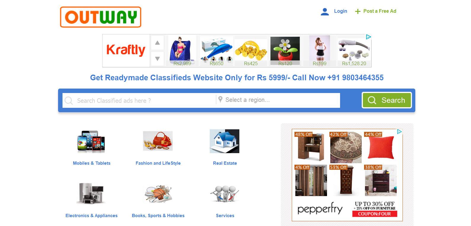 buy readymade classified website