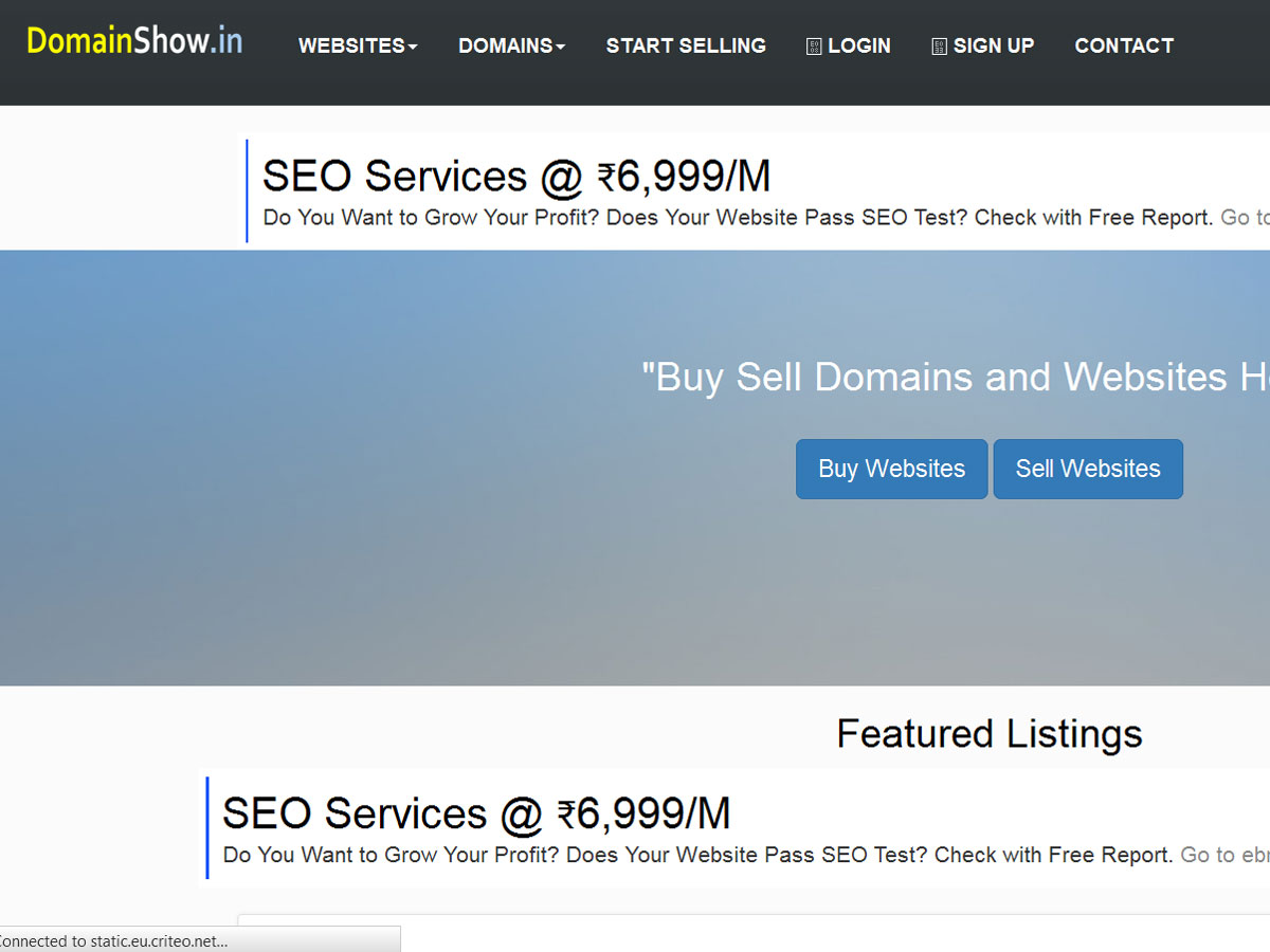 start your own domain marketplace